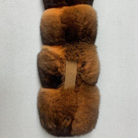チンチラマフラー CM-P 70×4.5 ② ハーベストパンプキン