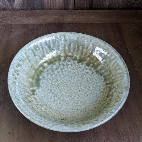 木灰釉 八寸鉢/西山光太