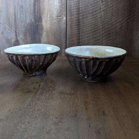 鉄釉 鎬飯碗 大/ 及川静香