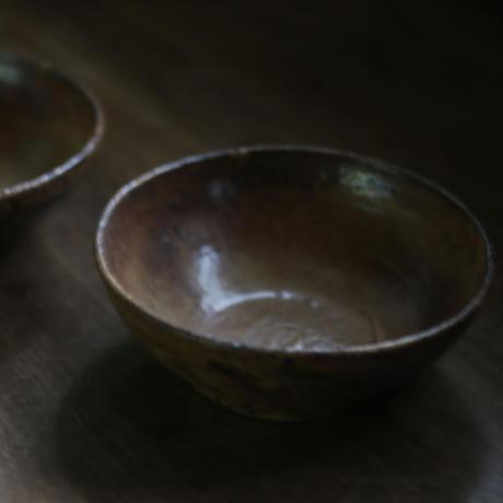鉄釉 5寸鉢/及川静香