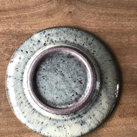 藁灰 平皿7寸 /工房つちみ