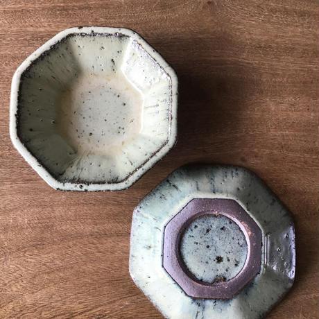 藁灰 八角皿 小/工房つちみ