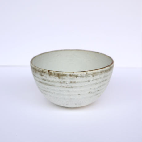 粉引荒土灰釉鉢(小)「作家 水野幸一」(28)