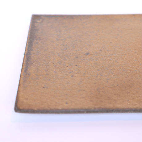銅彩釉 正角板皿 「作家 水野幸一」(20-7)
