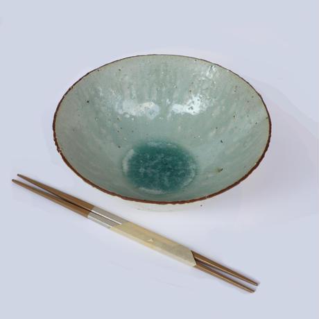 粉引灰釉深鉢(大)「作家 水野幸一」(MZ20-18)