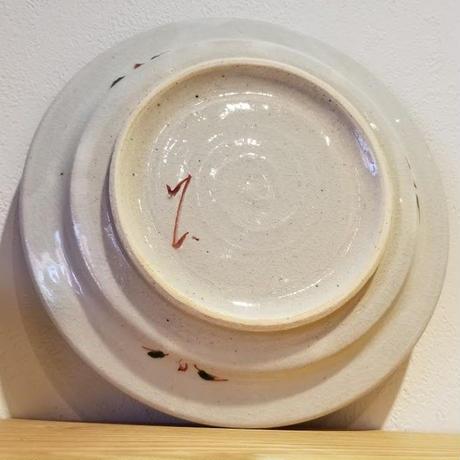 赤絵5寸皿「作家 藤田佳三」No.57