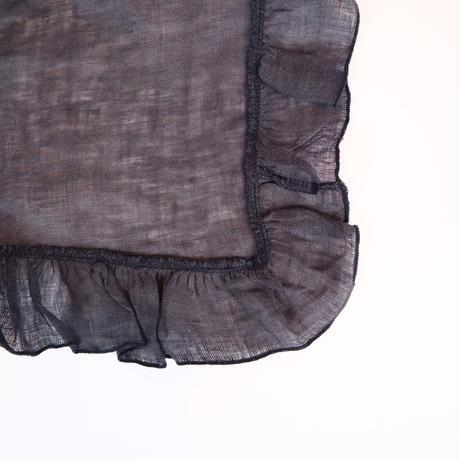 BORGO DELLE TOVAGLIE フリルナプキン graphite