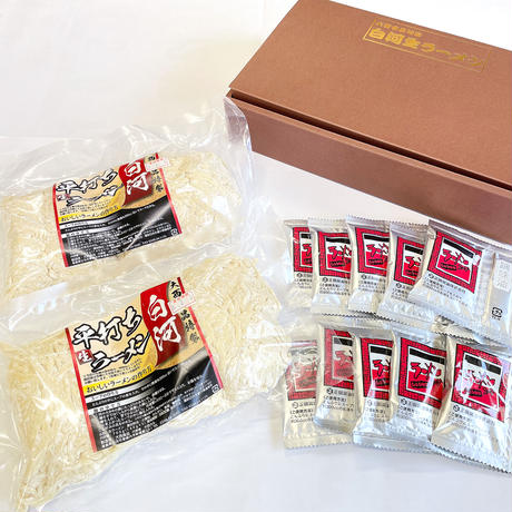 白河生ラーメン(10人前/スープ:しょうゆ味10袋付)
