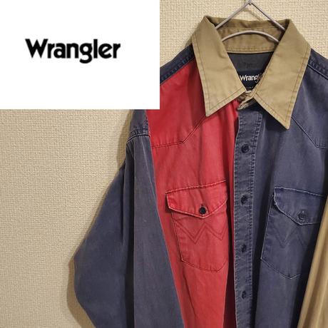 レア物    90s  Wrangler デニムシャツ クレイジーパターン