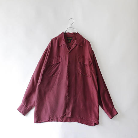 silk open collor shirt