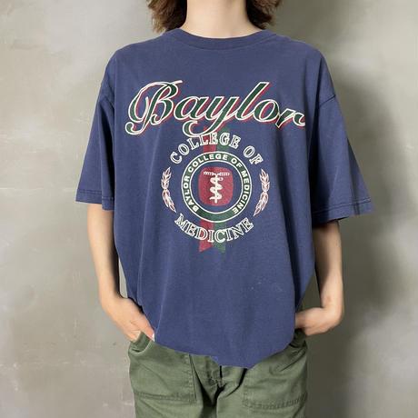 古着 ベイラー大学 カレッジ プリント Tシャツ