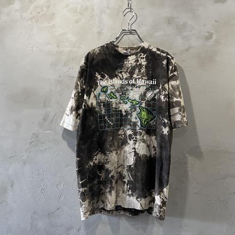"""Map"" design tie-dye T-shirts"