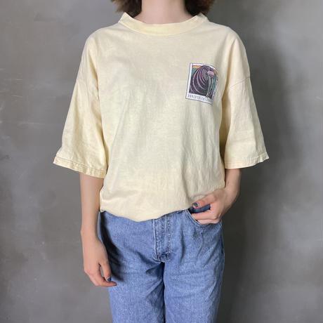 古着 セイウチ アニマル プリント Tシャツ