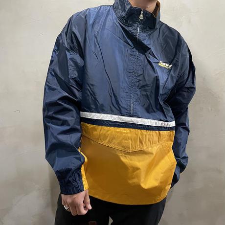 """NAVY"" one point anorak jacket"