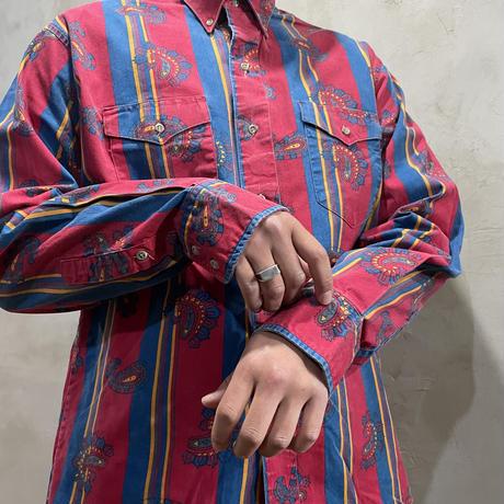 ●【Wrangler】Stripe design L/S-shirts