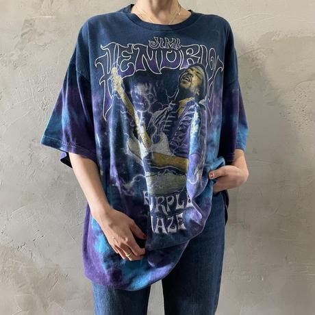 """JIMI・HENDRIX"" design tie-dye T-shirts"