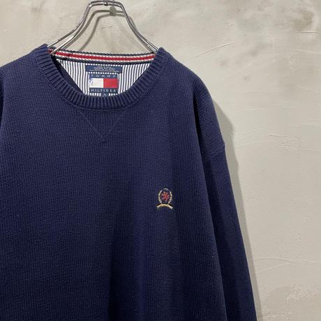 【TOMMY HILFIGER】Navy Crew neck knit