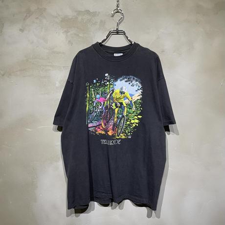 古着 自転車 チャリ フロント デザイン Tシャツ