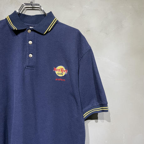 【Hard Rock】front design POLO-T-shirts