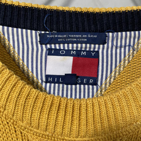 【TOMMY HILFIGER】Yellow Crew neck knit