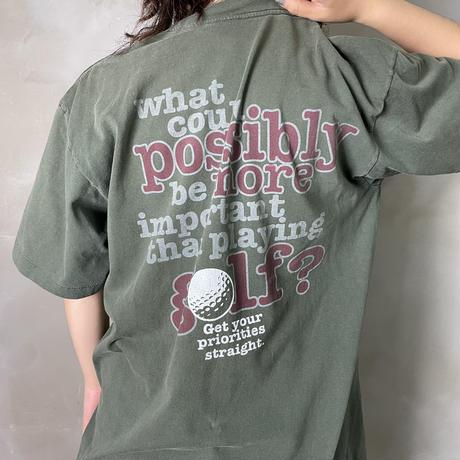 古着 GOLF ゴルフ プリント フォント Tシャツ