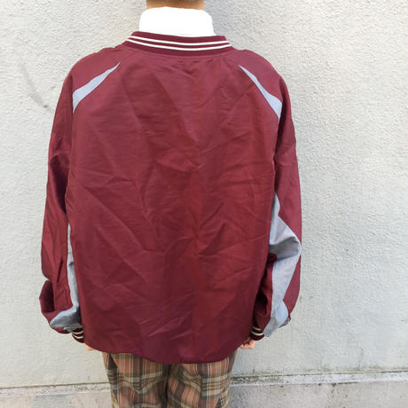 Mizuno reversible wine red one point nylon tops