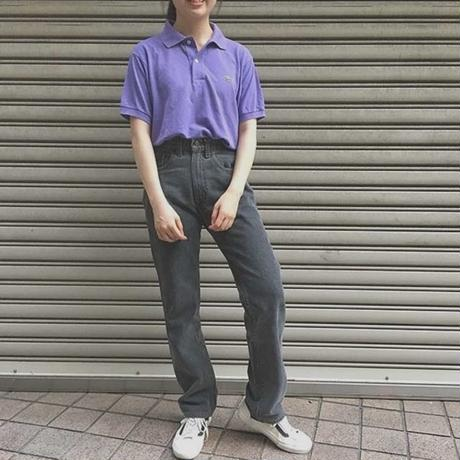 Purple one point polo shirt (Lacoste)