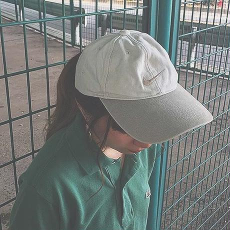 White one point cap(NIKE)