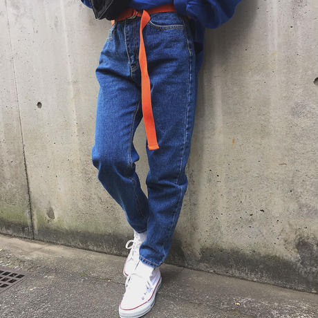 90s Mom's DENIM(dark blue)