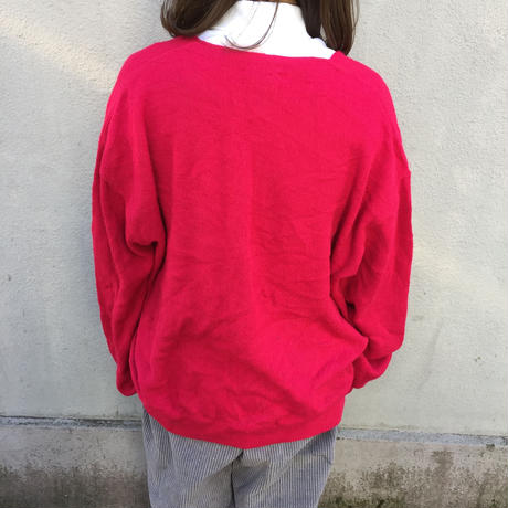 Lacoste vivid pink one point cardigan