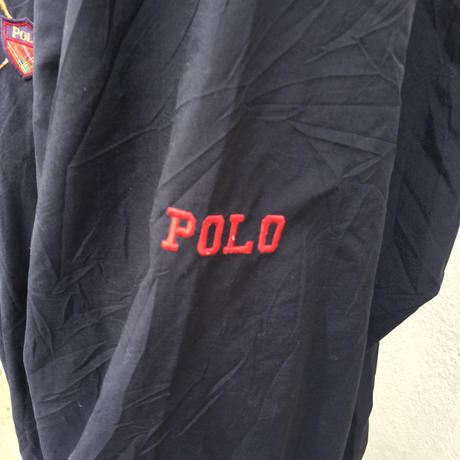 Polo golf one point deep navy nylon tops