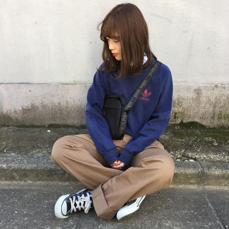 Adidas navy one point logo sweat