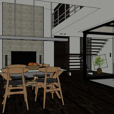 living room for Sketchup & SUpodium