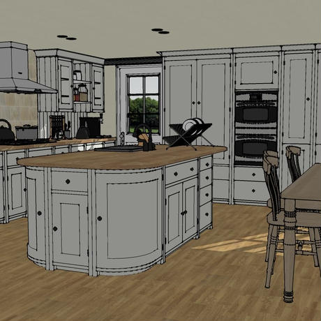 classic kitchen for Sketchup & SUpodium