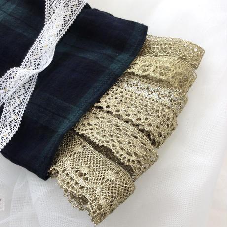 クリスマスレースセット 巾着袋付き【ゴールド】1m×6点