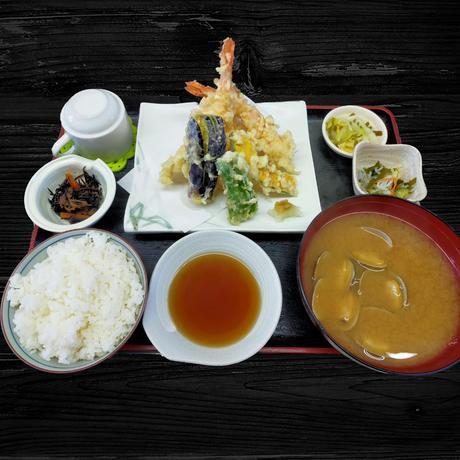 穴子と海老天ぷら定食