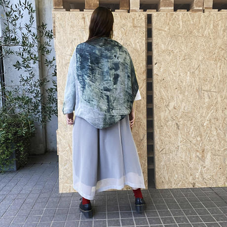 WALL LINEN CARDIGAN  MONO(One of a kind)