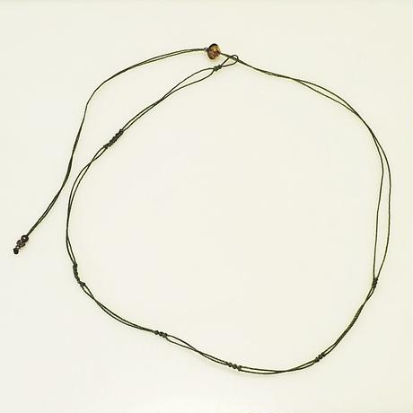 【Lei】マクラメ編み紐(カニカンなし)・グリーン(36001-86)