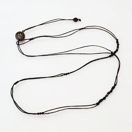 【Lei】マクラメ編み紐(カニカンなし)・ネイビーB(36001-80)