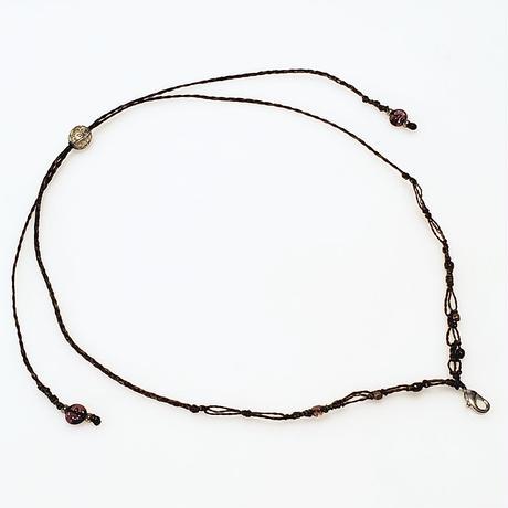 【Lei】マクラメ編み紐・ブラウン(36001-71)