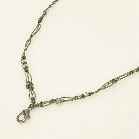 【Lei】マクラメ編み紐・シルバーグリーンC(36001-76)