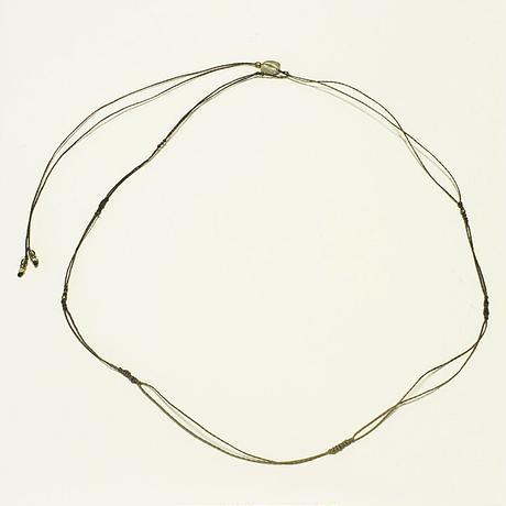 【Lei】マクラメ編み紐(カニカンなし)・カーキ(36001-85)