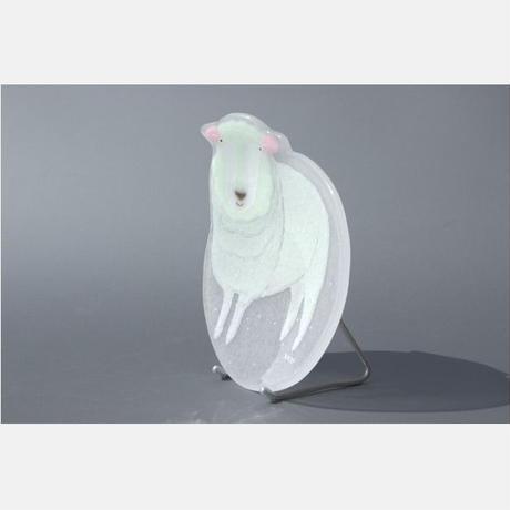 【水吉郁子】動物小皿 ヒツジ 白色(19037-SHEEP)