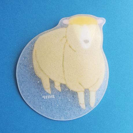 【水吉郁子】動物小皿 ヒツミ 黄色(19037-SHEEP)