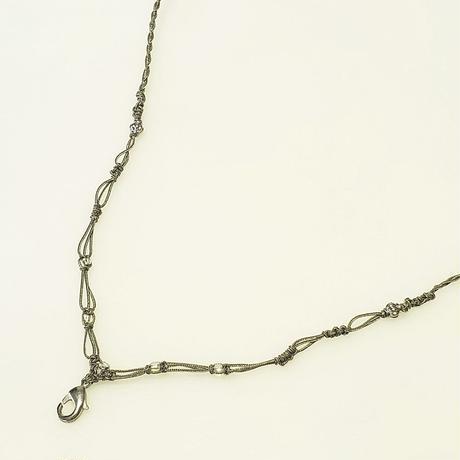 【Lei】マクラメ編み紐・シルバーグリーンA(36001-74)
