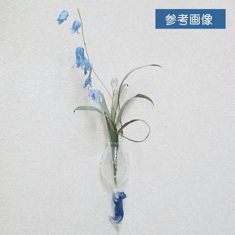 【竹原裕子】かけ花びんぶらさがりねこ・ ホワイト/ブラウン(42026-11)