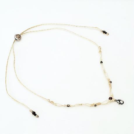 【Lei】マクラメ編み紐・オフホワイト(36001-73)