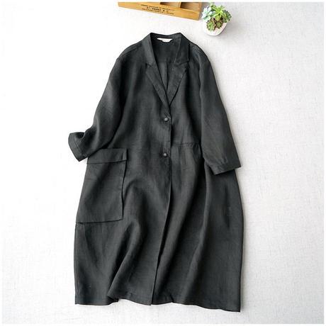 ニュートラルカラー カーディガン 薄手 七分袖 コート 日焼け止め 2色選択 0022