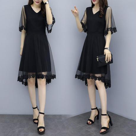 レース 柄 ドレス 花柄 大きいサイズ 0225