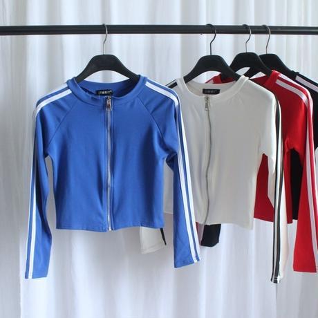 スポーティ ファッション シャツ ショート ストライプ 5色 0391